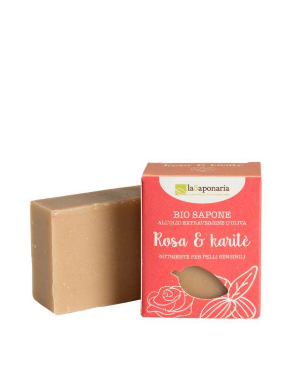 La Saponaria Sapone Rosa e Burro di Karitè