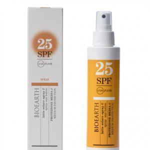 bioearth Latte Solare Spray SPF25